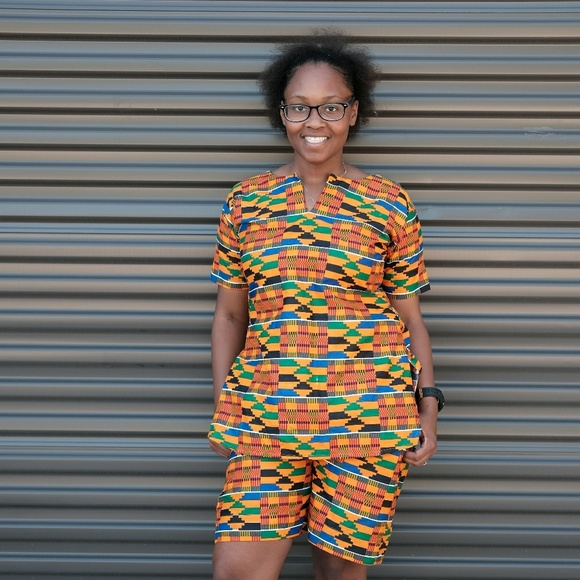 487bffc1d3 Women African print 2 pcs tunic top with pant